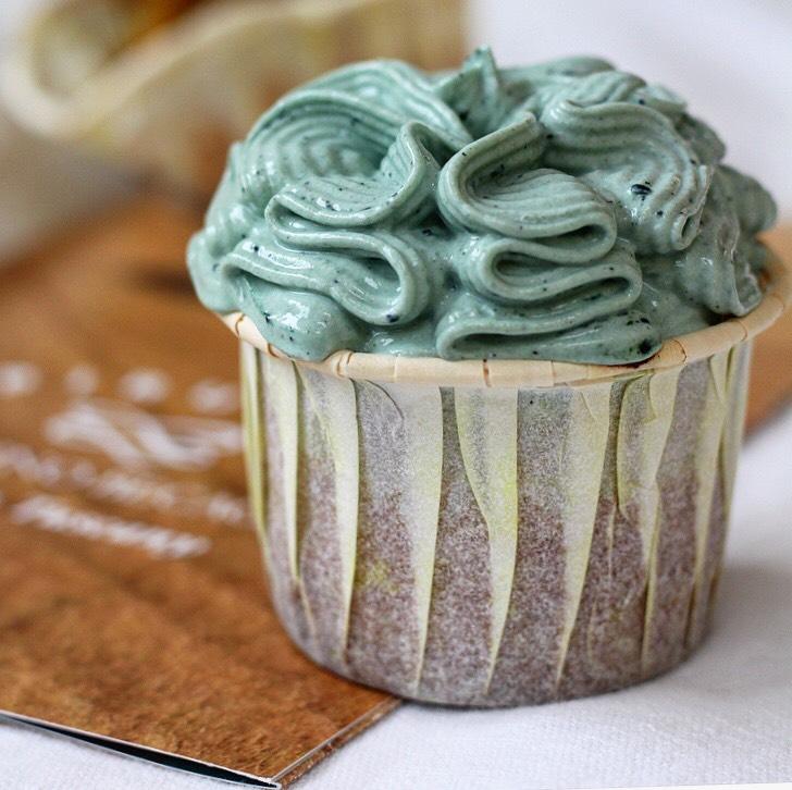 Muffin alla curcuma e alga spirulina