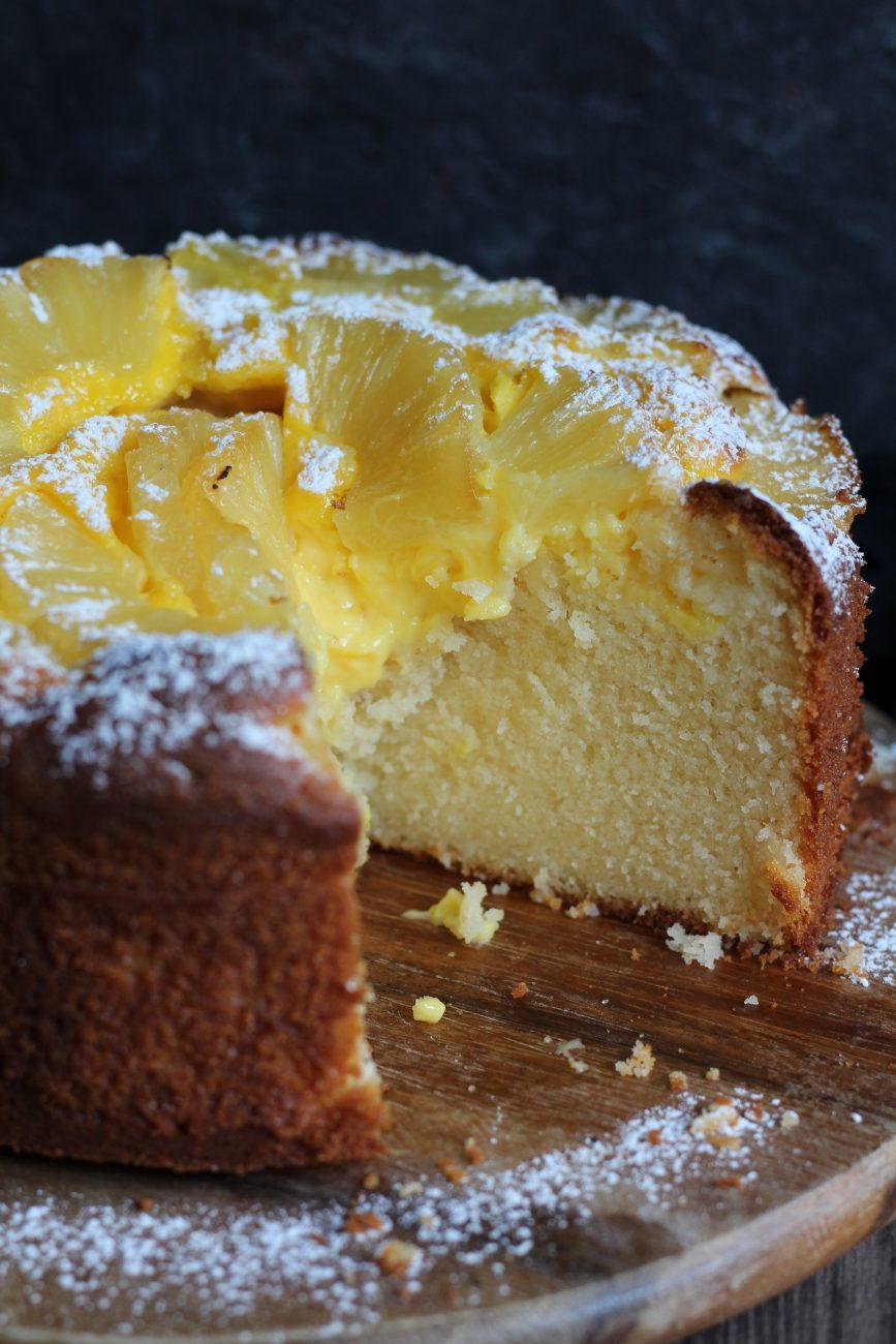 Torta mascarpone ananas e crema pasticcera alla vaniglia