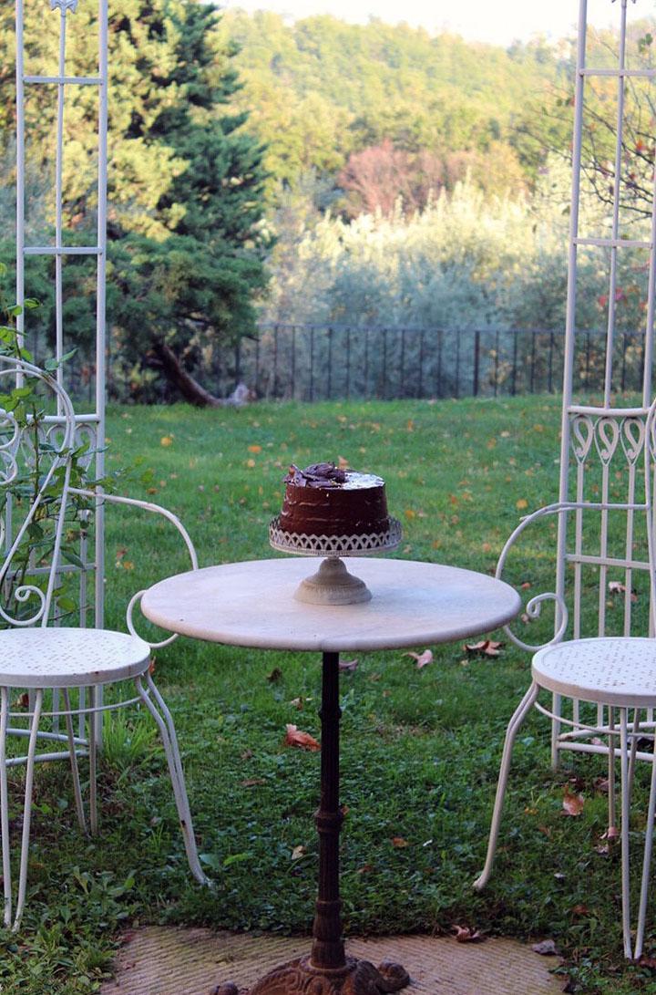 Chiffon Cake Sacher con confettura di albicocche
