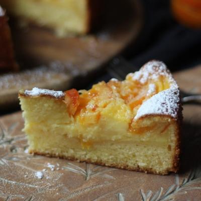 Torta rovesciata alla doppia crema pasticciera e arance caramellate