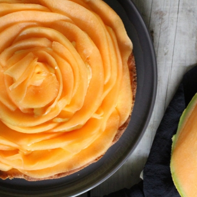 Crostata cocco vaniglia e melone